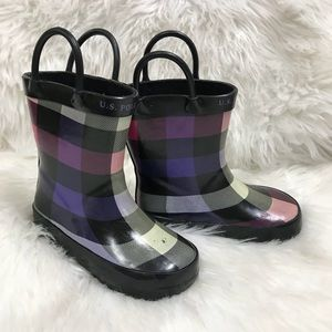 U.S. Polo ASSN Rubber Twisty Rain Boots